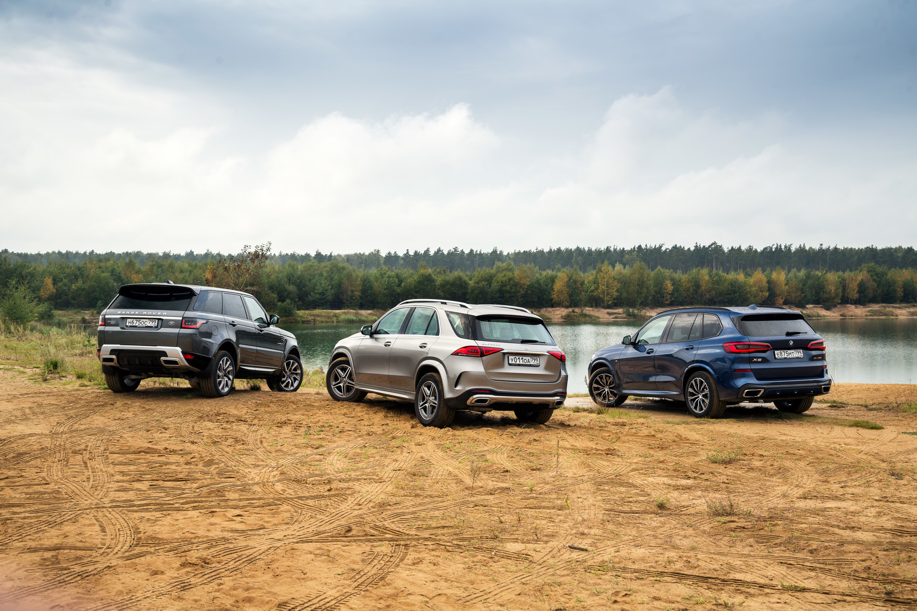 Большой тест: Mercedes-Benz GLE, BMW X5 или Range Rover Sport